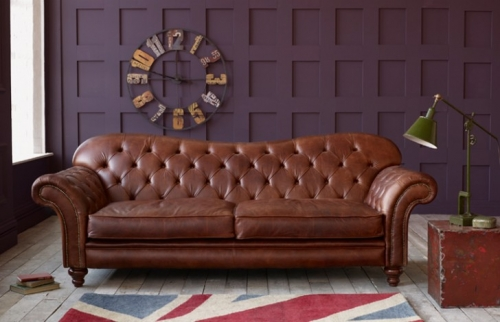Arundel Vintage Brown Leather Sofa