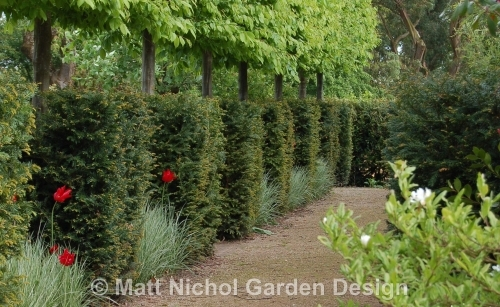 Large formal garden pathways.