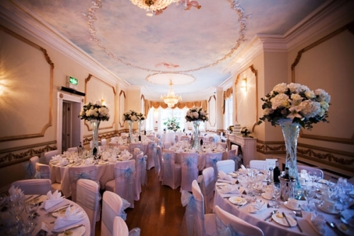 The Ivory Room ready for the Wedding Breakfast