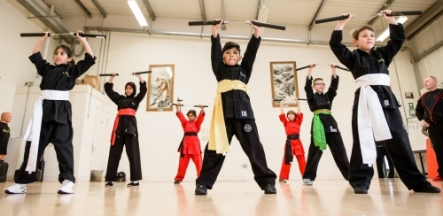 Students of Kung Fu Schools