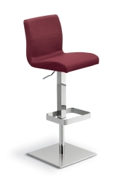 Delilah Gas Lift Stool, Premium Quality Italian Leather Upholstery, Burgundy Colour
