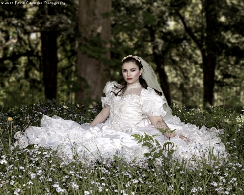 Bride with the flowers