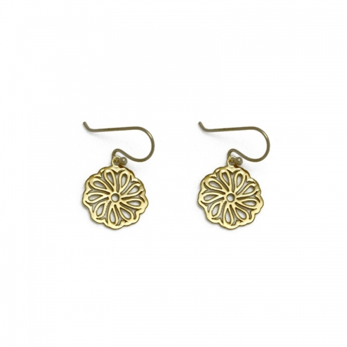 gold filled 18kt celtic inspired earrings