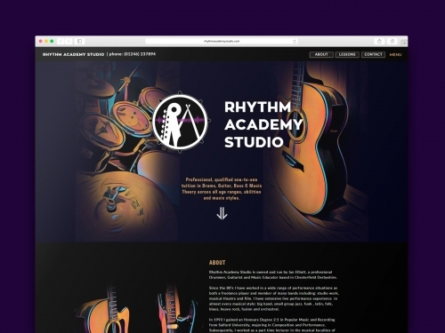 Rhythm Academy Studio Chesterfield Website Design