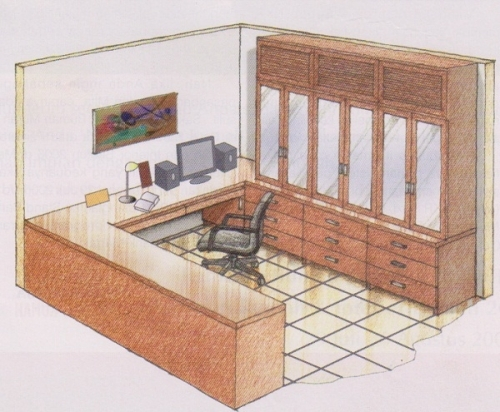 Built In Furniture Great Solution For Small Office/Home Office