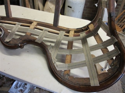 Chaise longue - Webbing applied to back