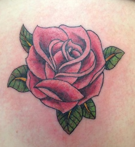 A classic Rose tattoo from Tom