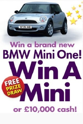 Win a Mini or 10,000 cash