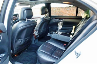 rear seats in the Sclass mercedes longwheelbase