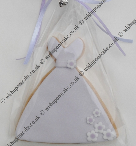Wedding Dress Cookie Favour