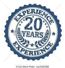 20 Yrs Experienced