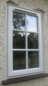 Astral bar cream window into pebble dash
