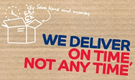 We deliver on time, not anytime