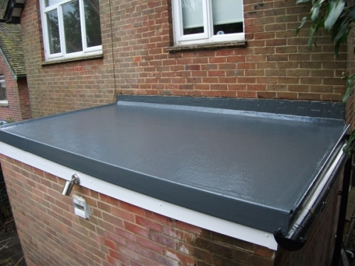 Fibreglass Flat Roof Finish fleetwood
