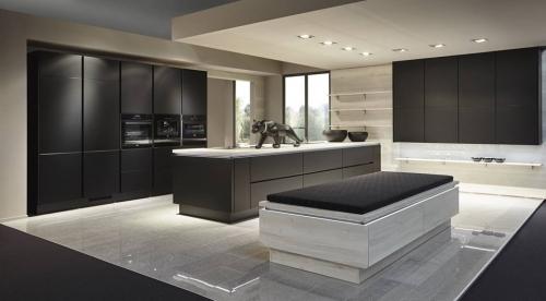 Grey Handleless Kitchens