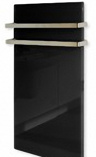 Infrared Glass Radiator Tower Rail in Black/Red/Green or White