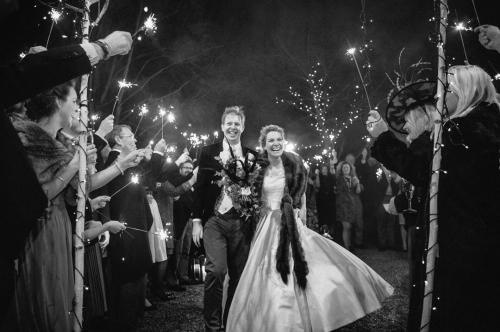 Leaving their Hampshire wedding