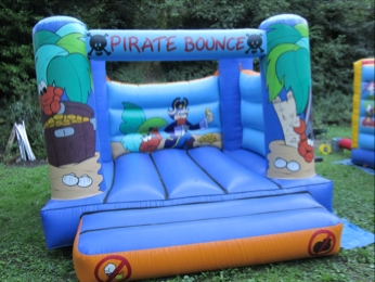 Pirate Bounce Front Of Bouncy Castle