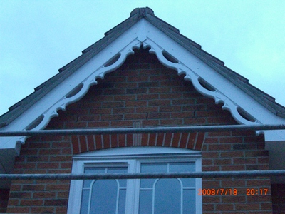 Decorative fascia design installed in Ipswich