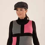 Black and Pink Colour Block Maternity Jumper Dress