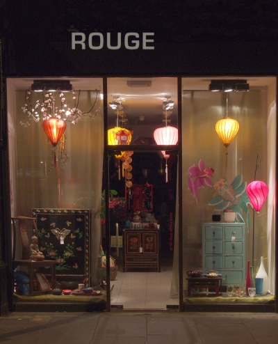 Rouge shop window