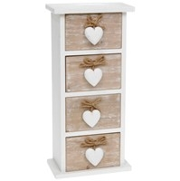 Provence Heart 4 Drawer Chest 35 X 16cm