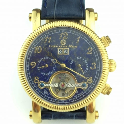 Constantin Weisz Automatic wrist watch with Lapis Lazurite dial