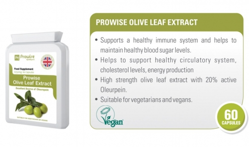 Prowise Olive Leaf Extract 60 Capsules 6750mg UK Made