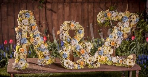 Bespoke floral letters