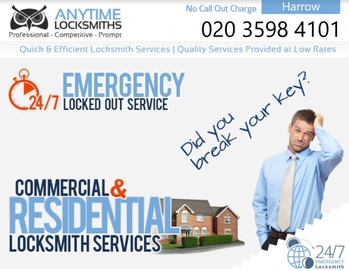Anytime Locksmiths   0203 598 4101   Emergency Locksmith Services in Harrow