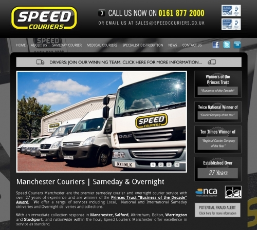 Website: Speed Couriers