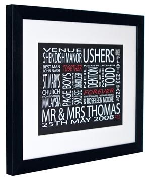 Personalised Wedding Details Framed Print