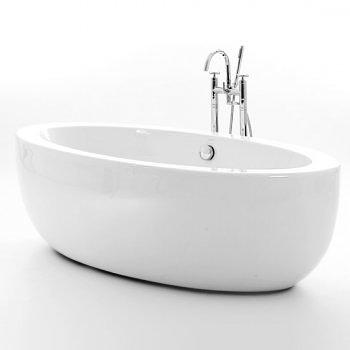 Churchill 1860 White Acrylic Oval Freestanding Bath