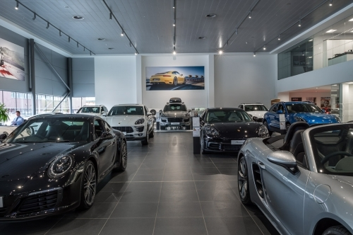 Inside Porsche Centre Tewkesbury
