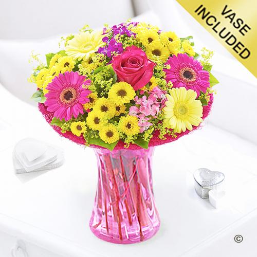 Summer vibrant vase