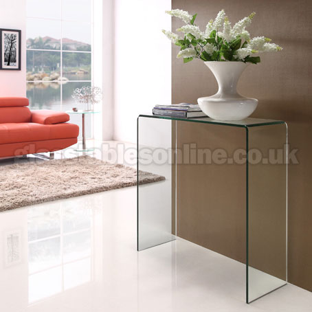 Glass Console Table Small