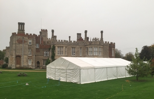 9m marquee for Horror At Hinchinbrooke House