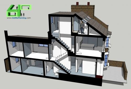 Hackney Terrace Loft Conversion1