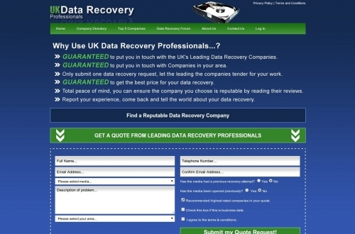 UK Data Recovery Professionals