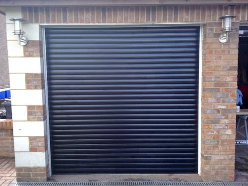 Black Insulated Roller Garage Door