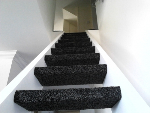 Open stairs which we fitted the carpet to in Elmswell suffolk.