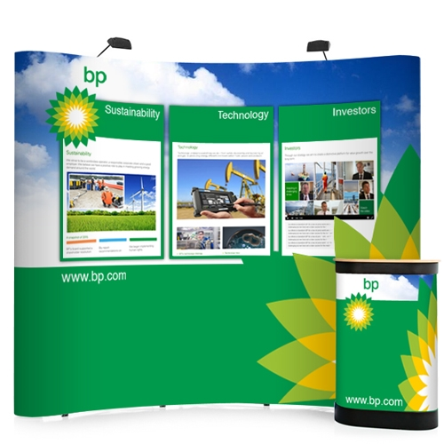 3x3 Curved Pop Up Stand