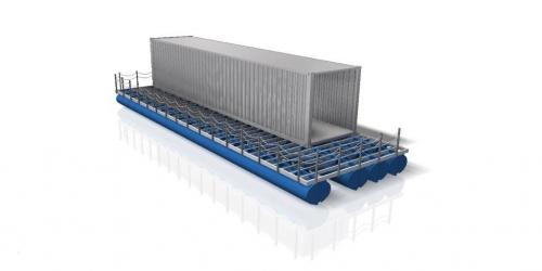 Shipping Container Matrix Pontoons