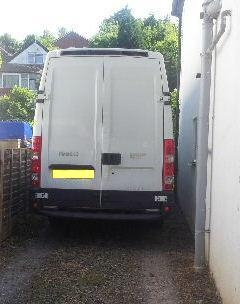 Van Empty And Leaving a tight access property