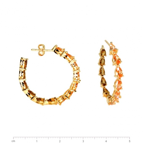 champagne coloured goldfilled hoop earrings
