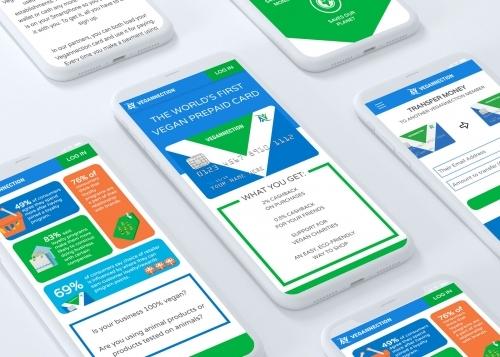 Vegannection Vegan Prepaid Card Mobile App UI/UX Design