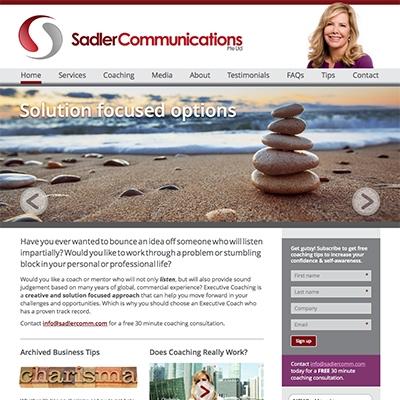 Sadler Communications, Singapore - responsive website design and build