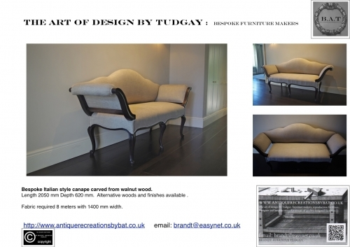 Bespoke sofas, varies options available.  www.bespokefurnituremakers.company