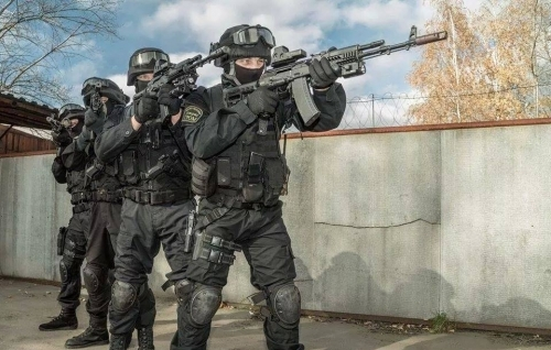 Airsoft Security Black Uniform 3 Man Team