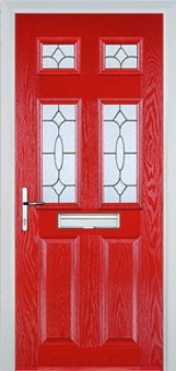 2 Panel 4 Square Red